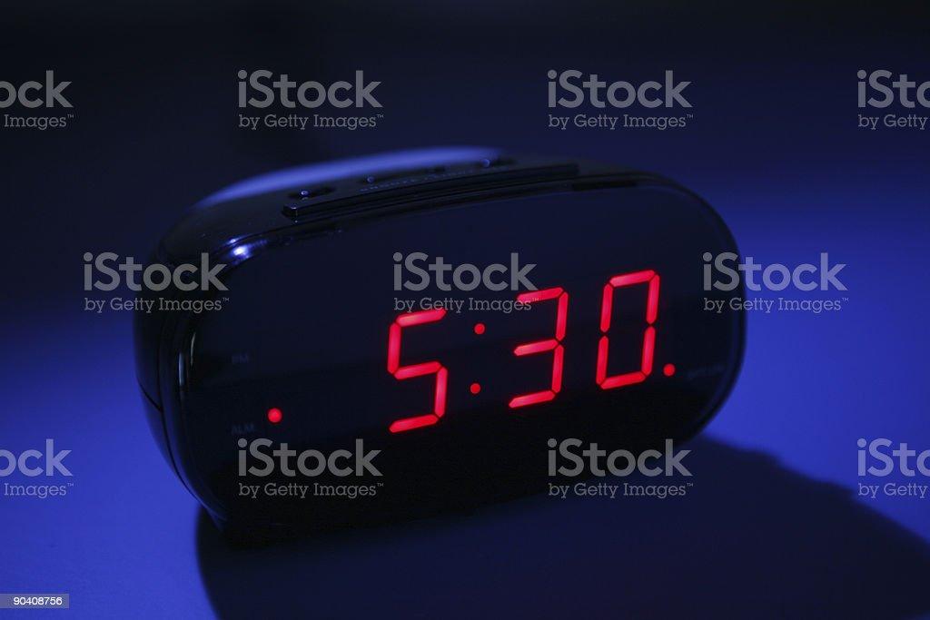 Alarm clock at night royalty-free stock photo