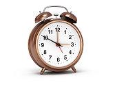 Alarm Clock Bronze Isolated Background