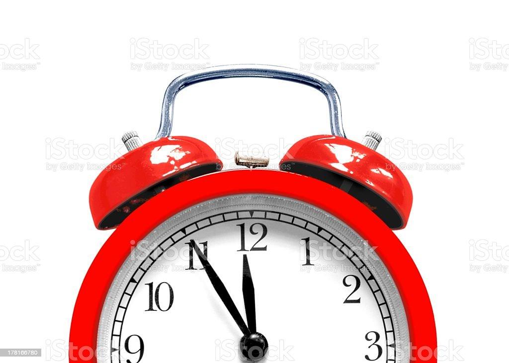Alarm clock close up royalty-free stock photo