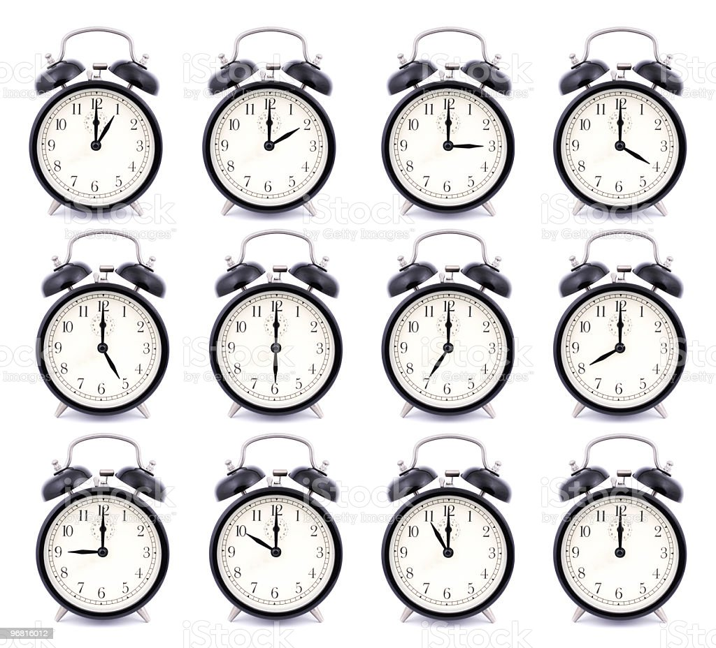 Alarm Clock Collection stock photo