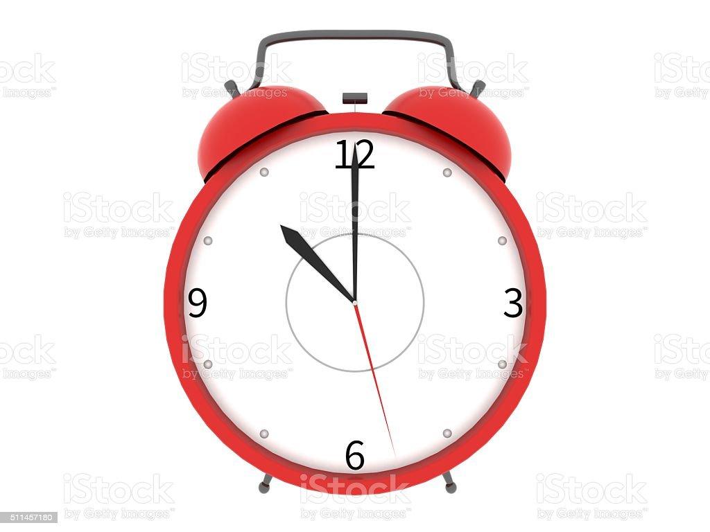 Alarm clock front stock photo