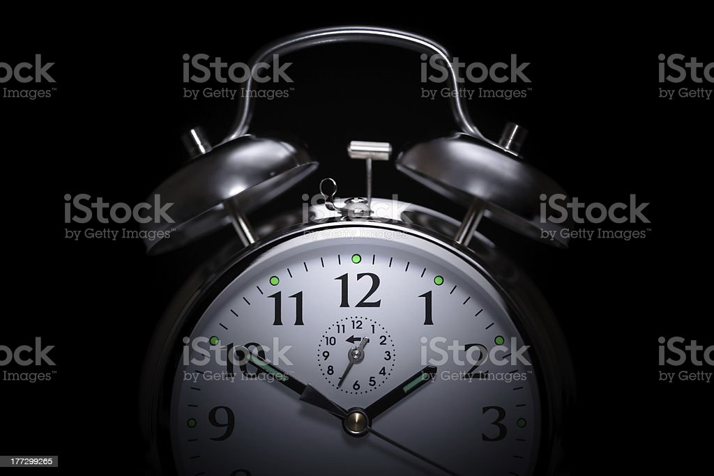 Alarm clock insomnia stock photo