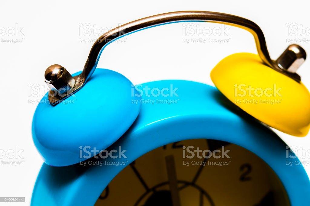 Alarm clock isolated on white background stock photo