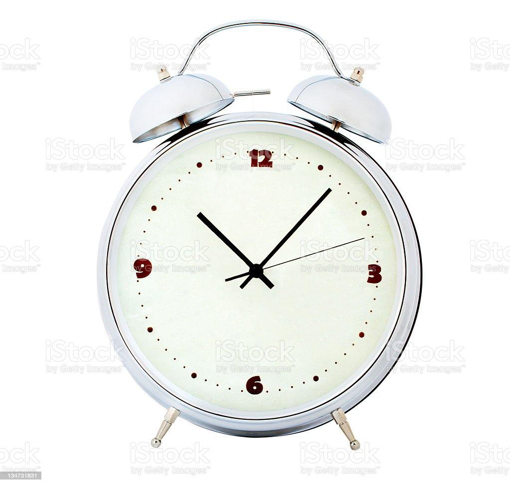 alarm clock isolated on white royalty-free stock photo