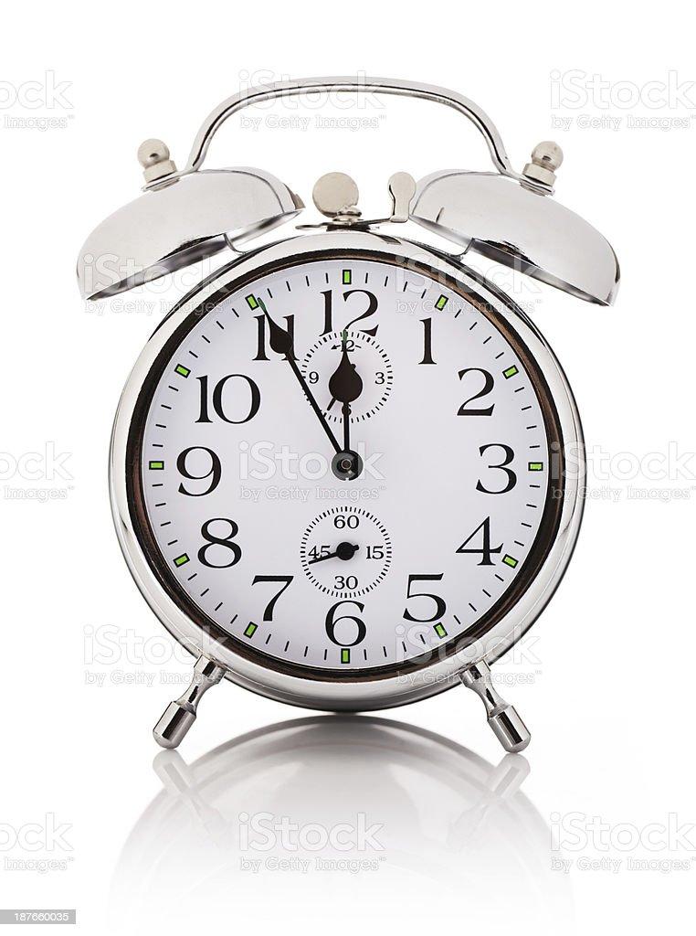 Alarm clock, isolated over white background royalty-free stock photo