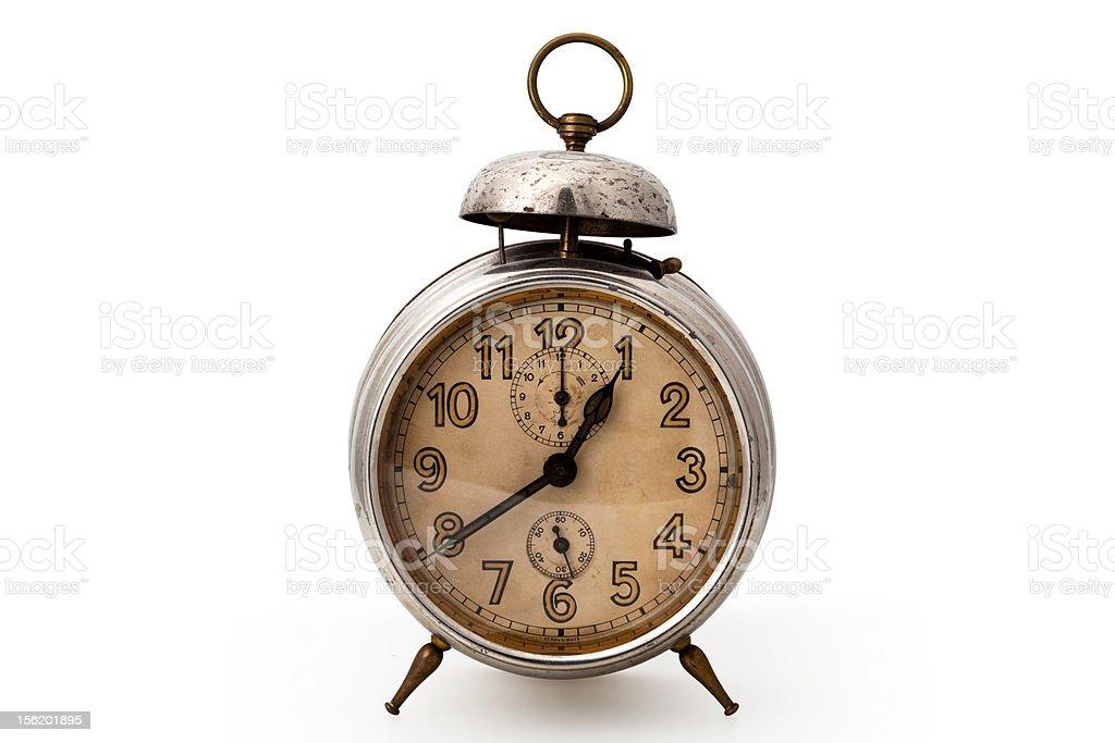 Alarm clock isolated royalty-free stock photo