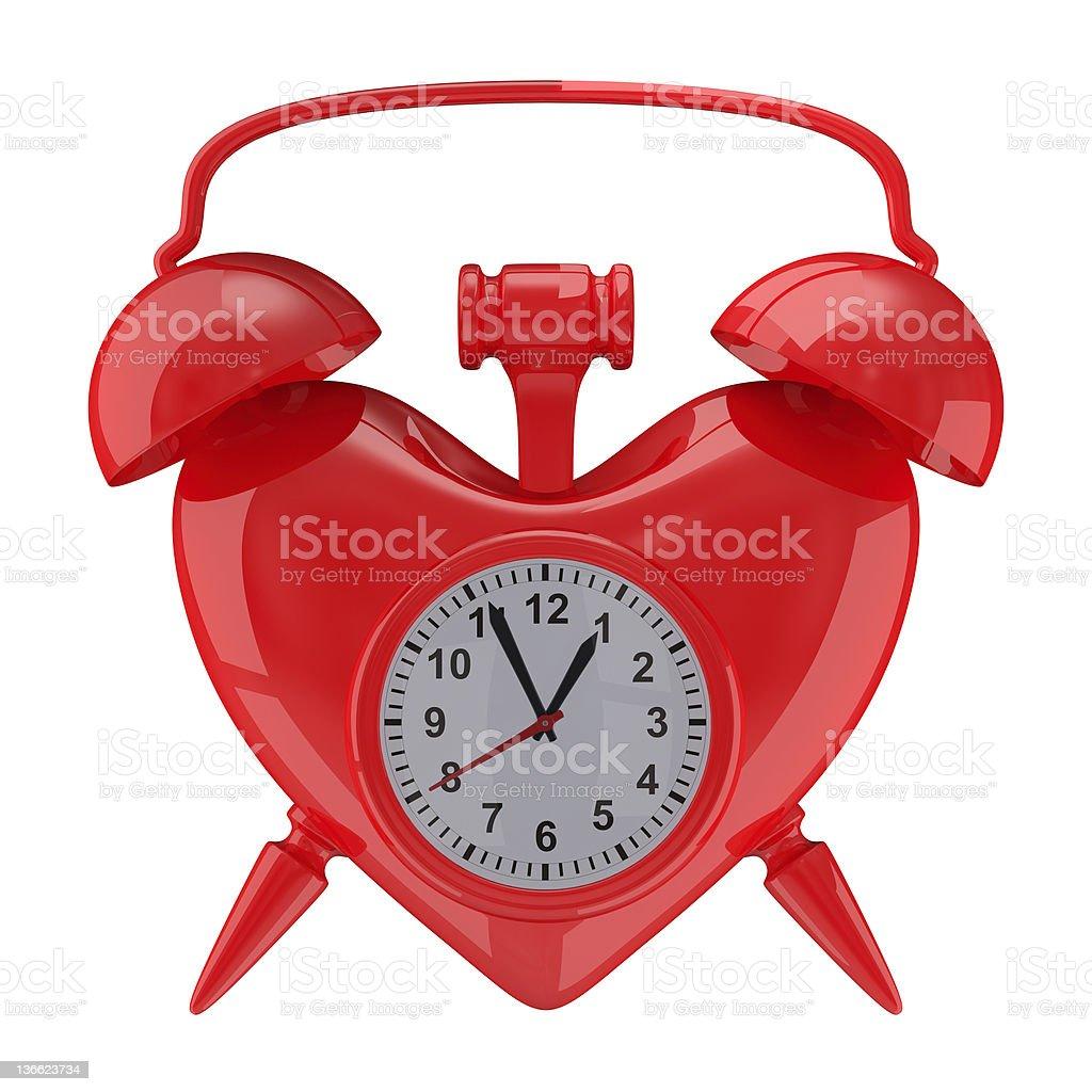 Alarm clock on white background. Isolated 3D image royalty-free stock photo