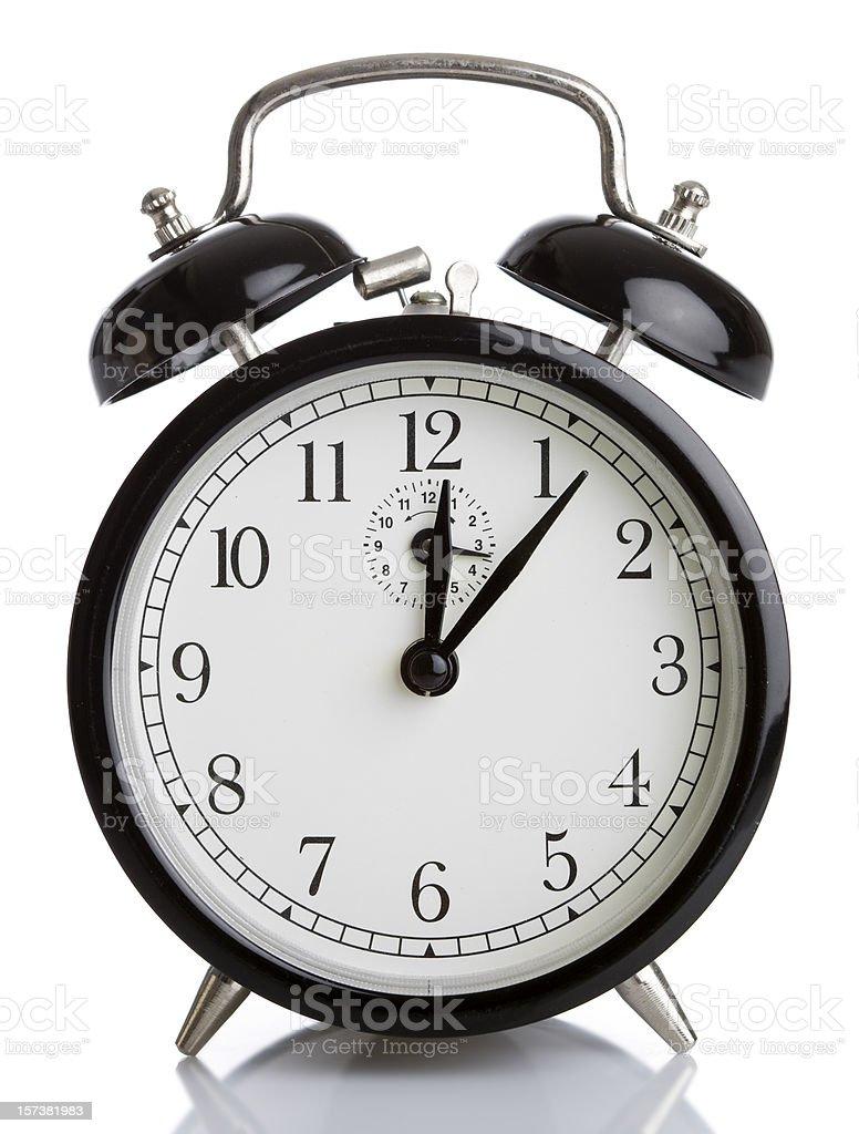 Alarm clock on white background royalty-free stock photo