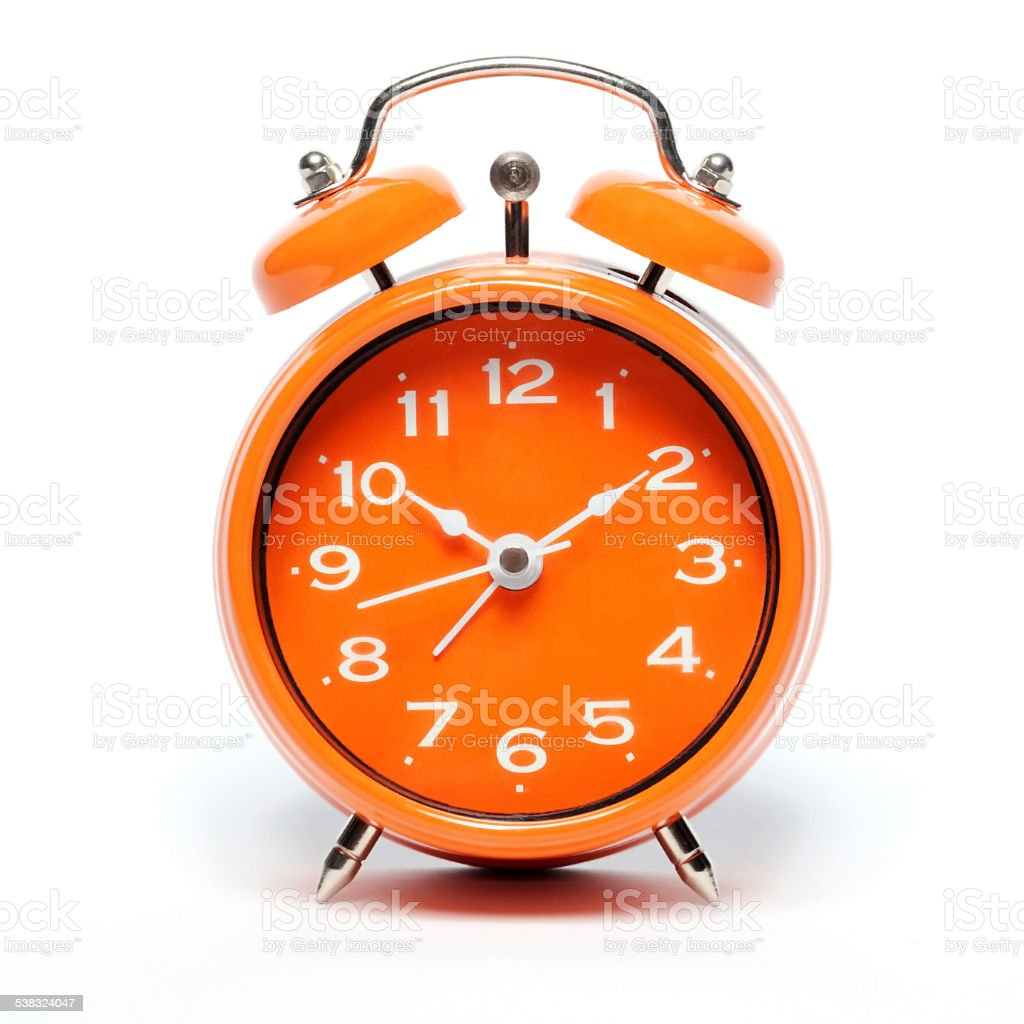 Alarm Clock Orange stock photo