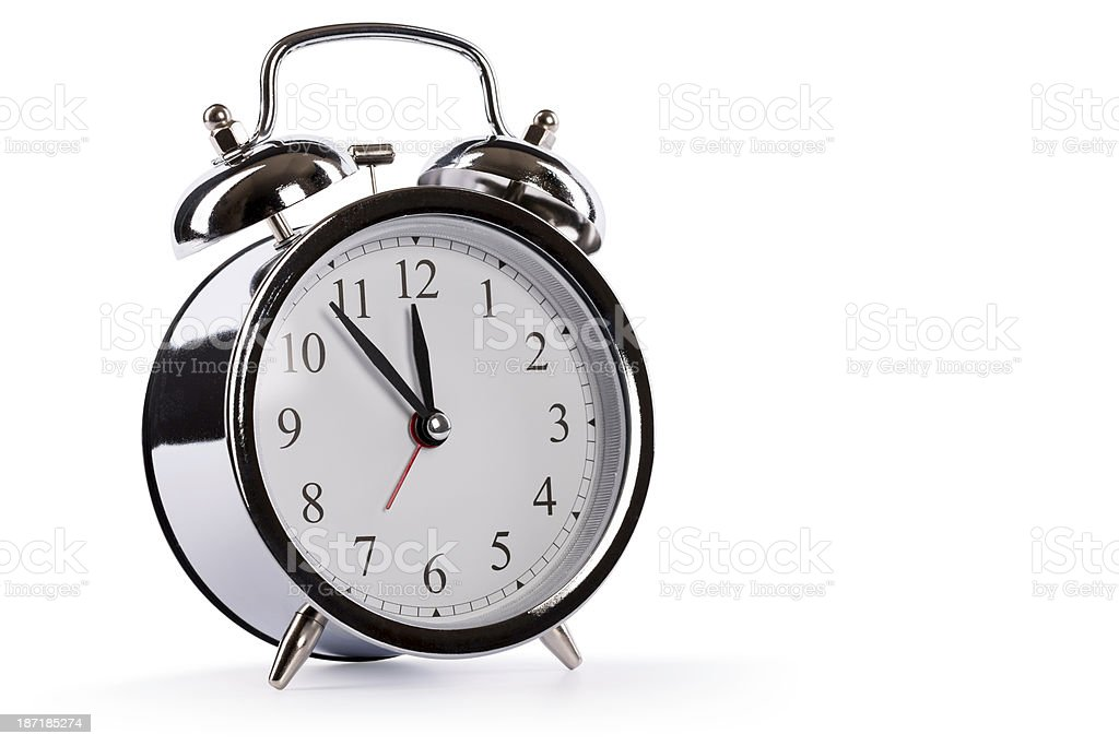 alarm clock (clipping path) royalty-free stock photo