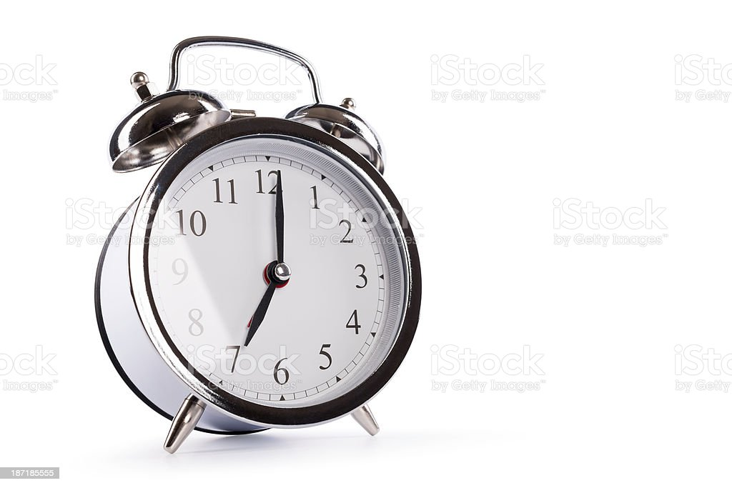 alarm clock (clipping path) royalty-free stock photo