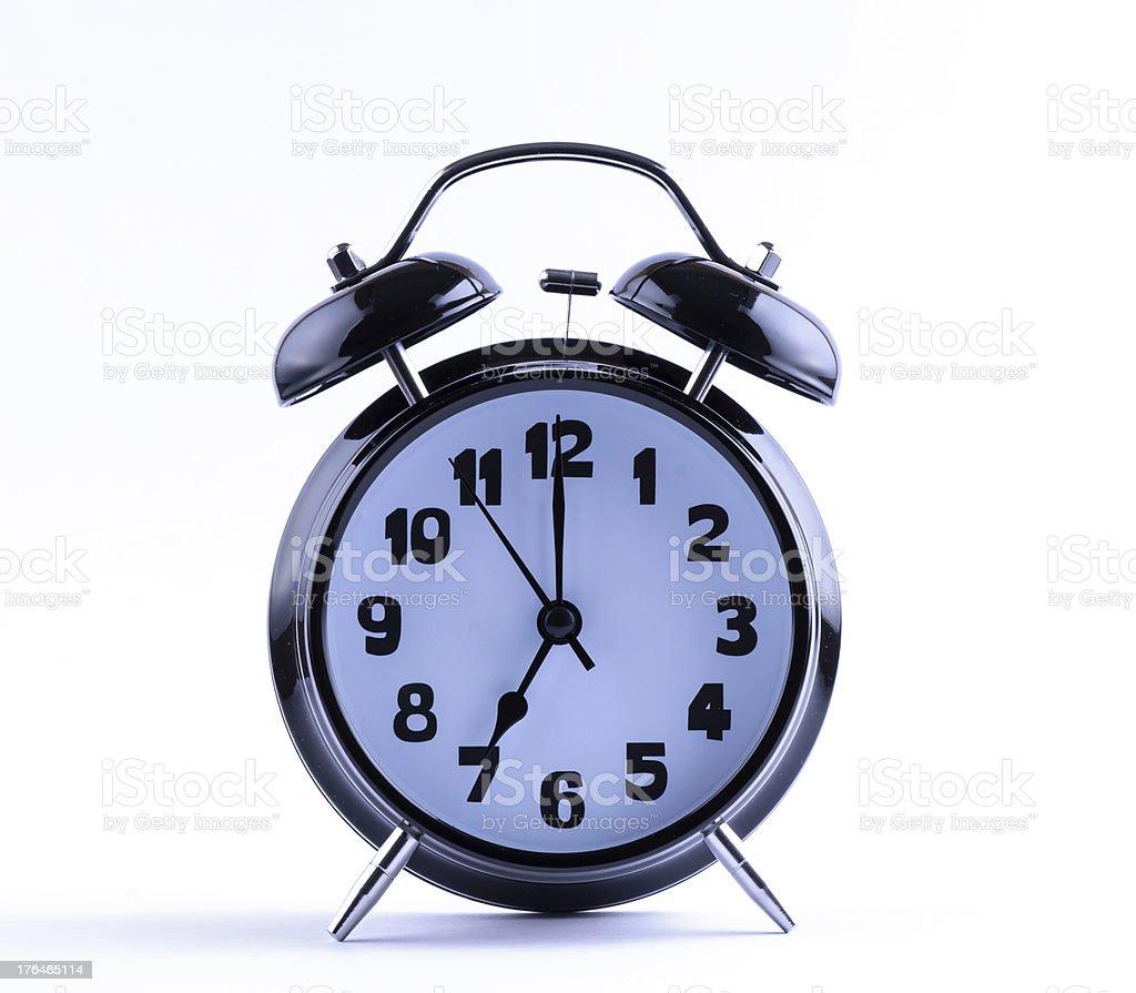 Alarm Clock  seven o'clock royalty-free stock photo