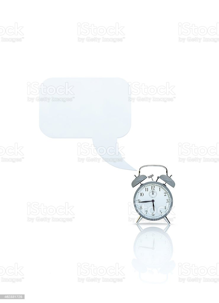 alarm clock with callout stock photo