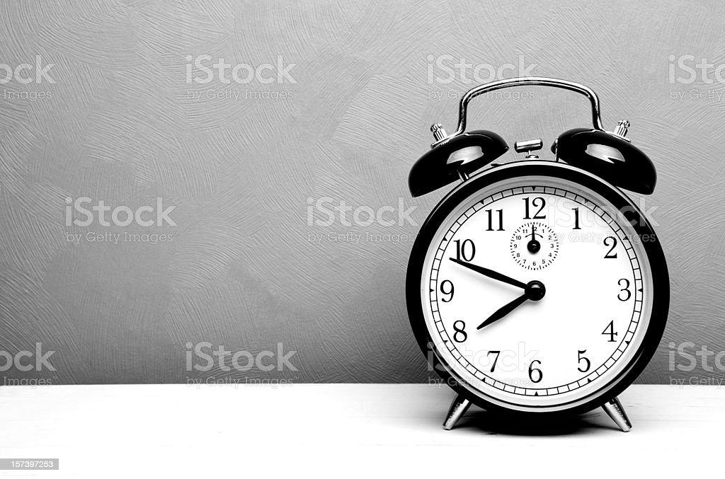 Alarm clock with copy space stock photo