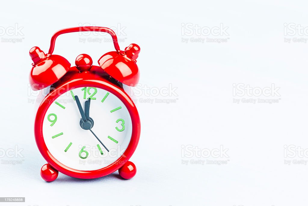 Alarm Clock with Copy Space royalty-free stock photo