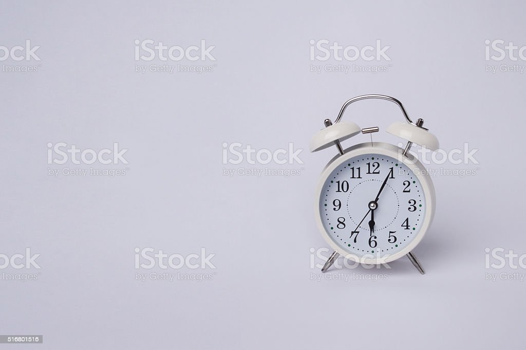 alarm clock with copy space stock photo