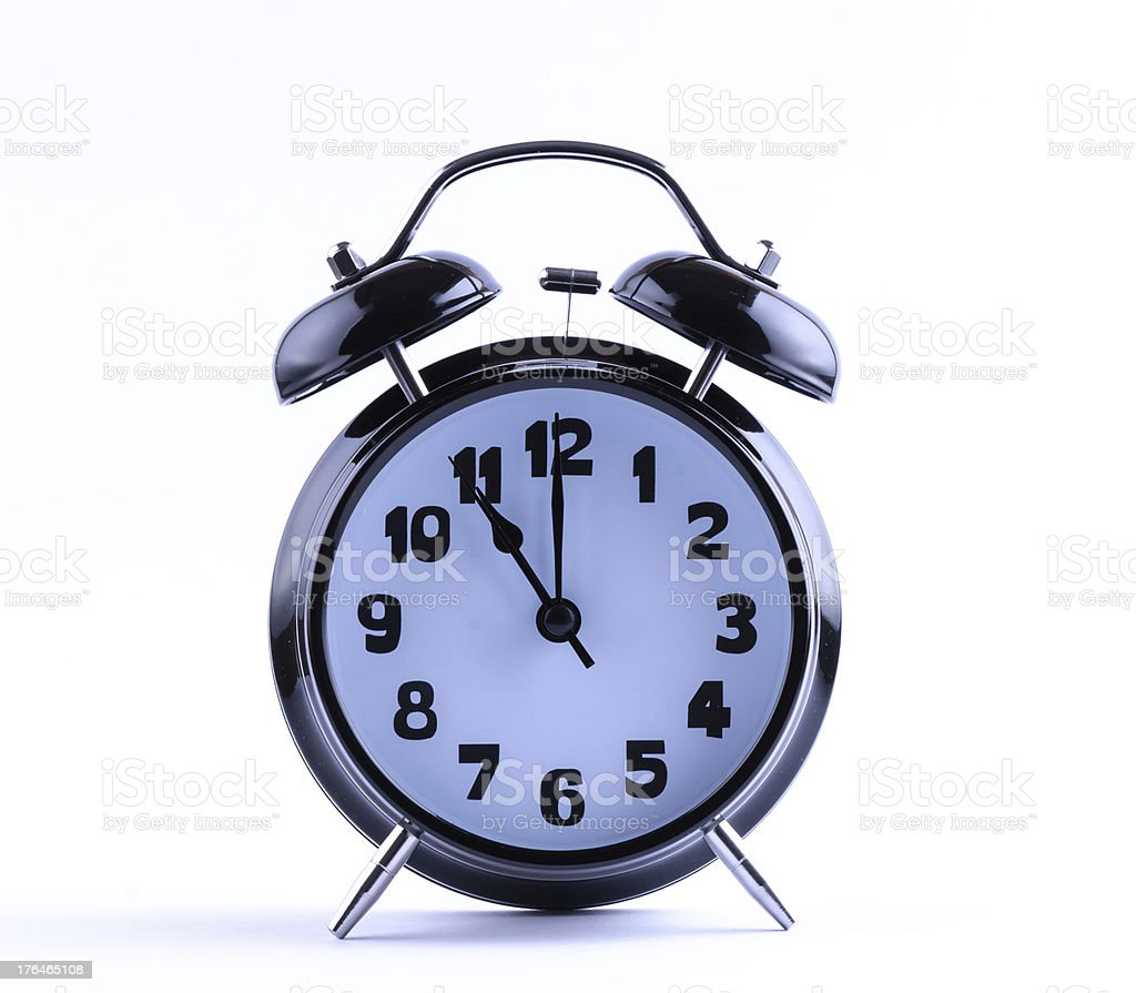 Alarm Clock  with eleven o'clock royalty-free stock photo