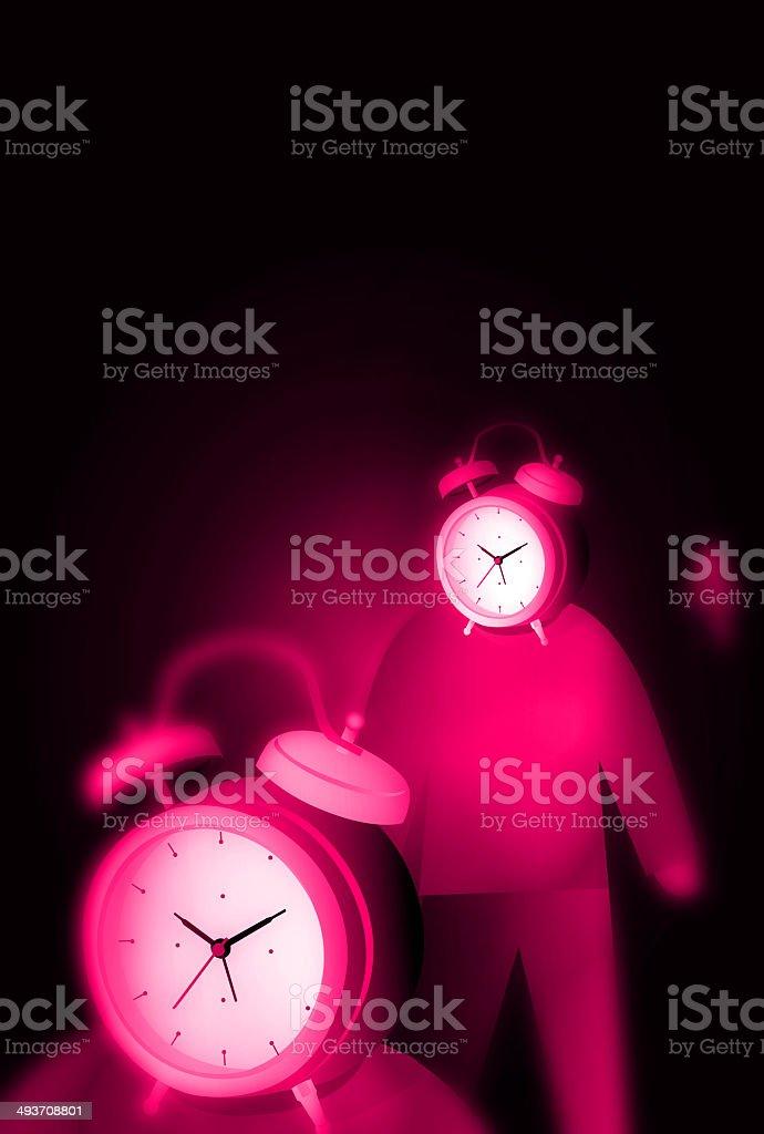 Alarm Clock with People stock photo