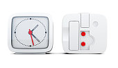 Alarm clock with the two sides