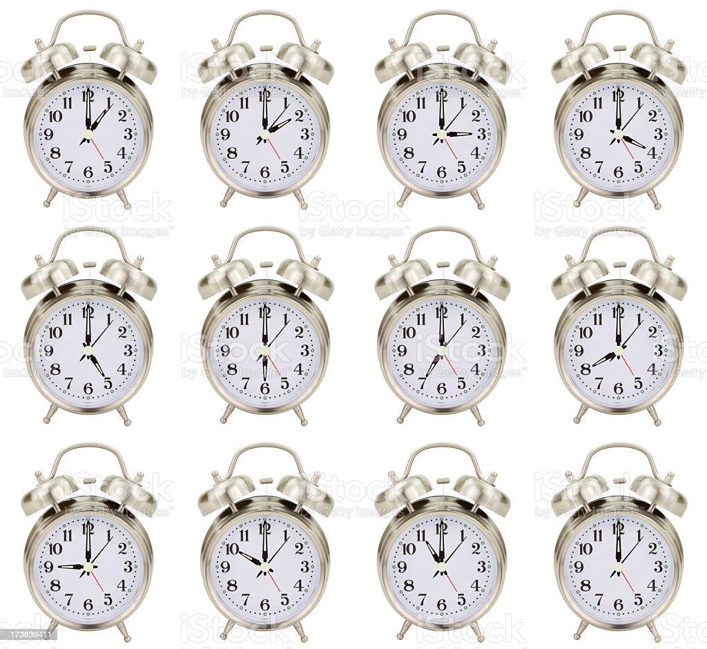 Alarm Clocks Every Hour royalty-free stock photo