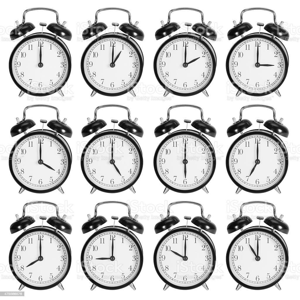 Alarm clocks stock photo
