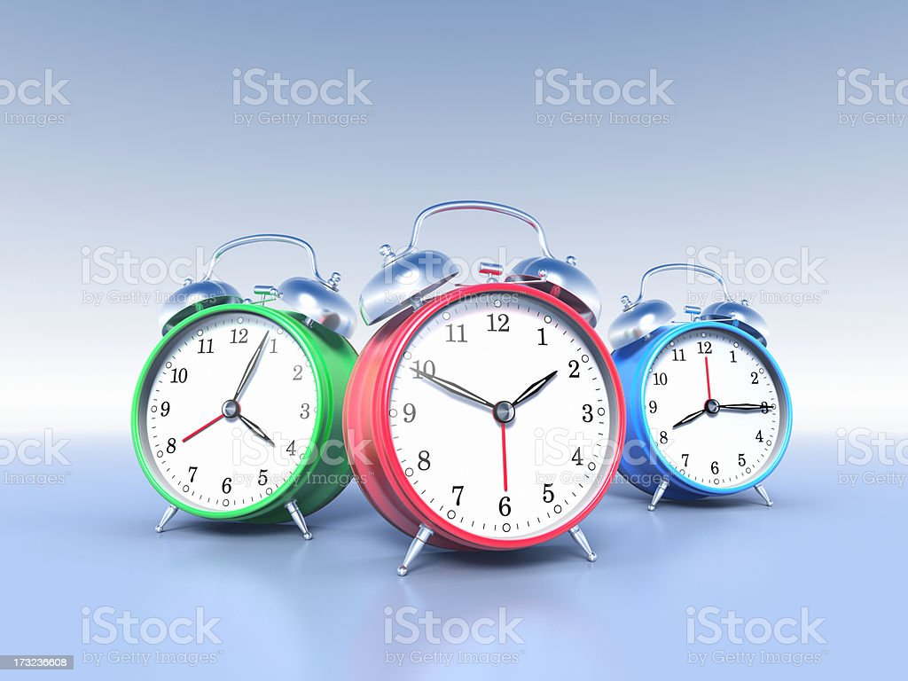 Alarm Clocks XL+ stock photo