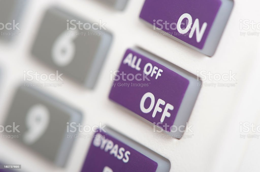 Alarm keypad close up stock photo