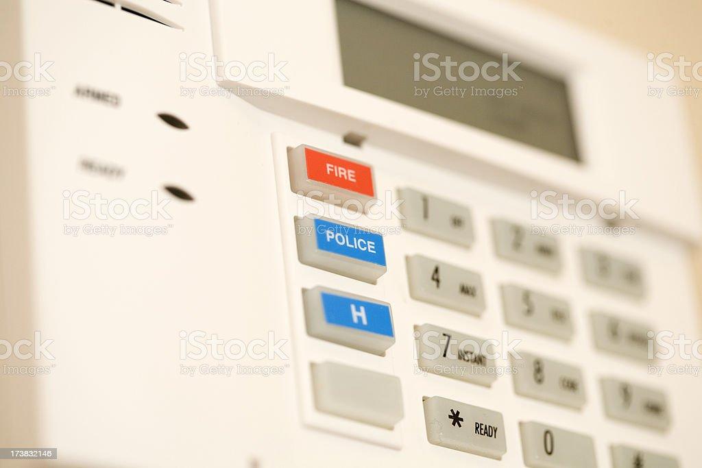 Alarm Keypad royalty-free stock photo