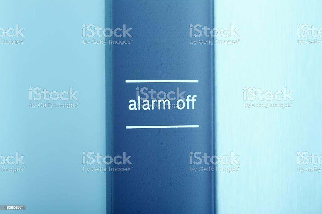 Alarm Off stock photo