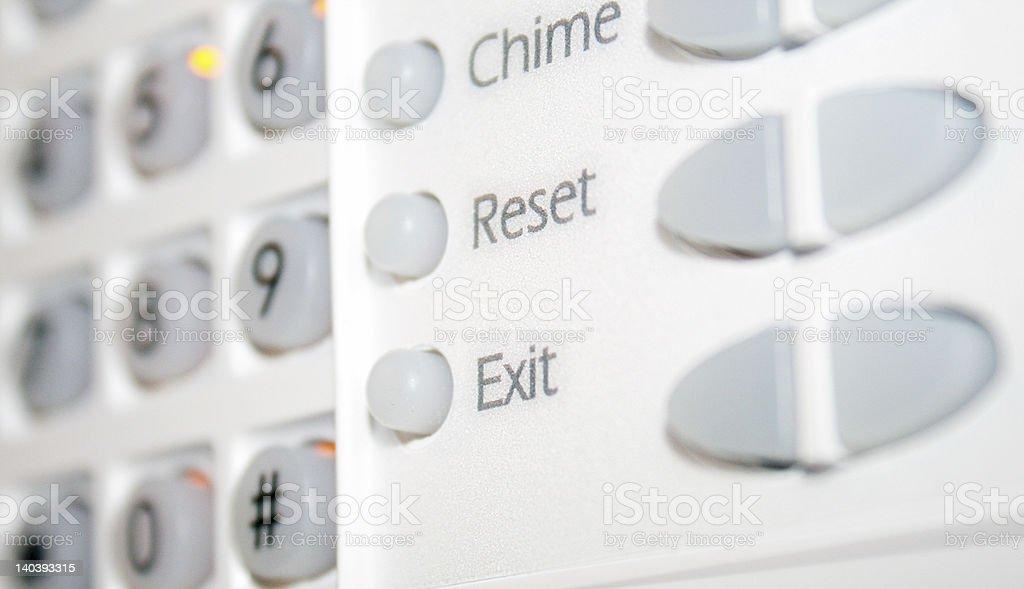 Alarm Security DashBoard stock photo