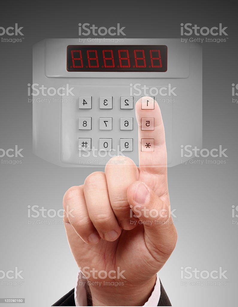 Alarm System Keypad royalty-free stock photo
