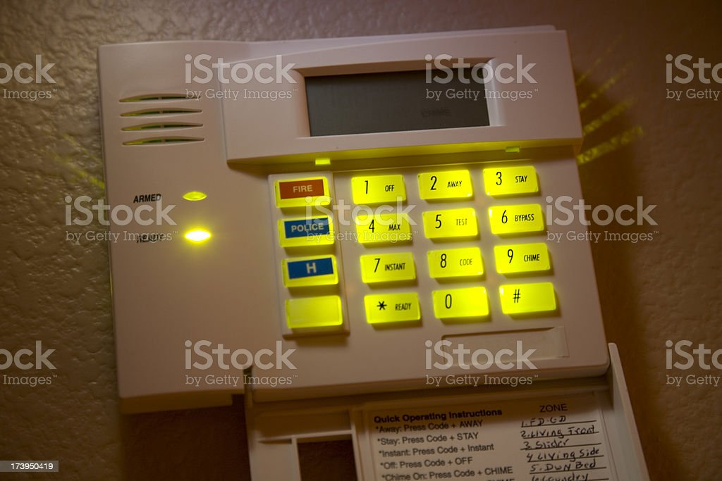 Alarm system royalty-free stock photo