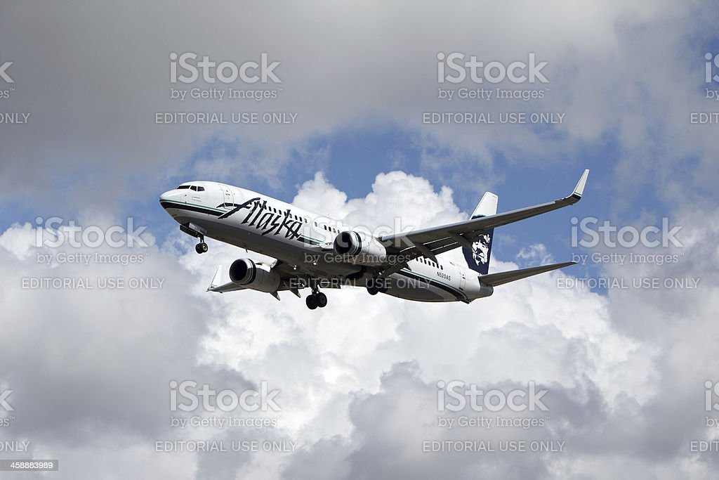 Alaska Airlines Boeing 737-890 royalty-free stock photo