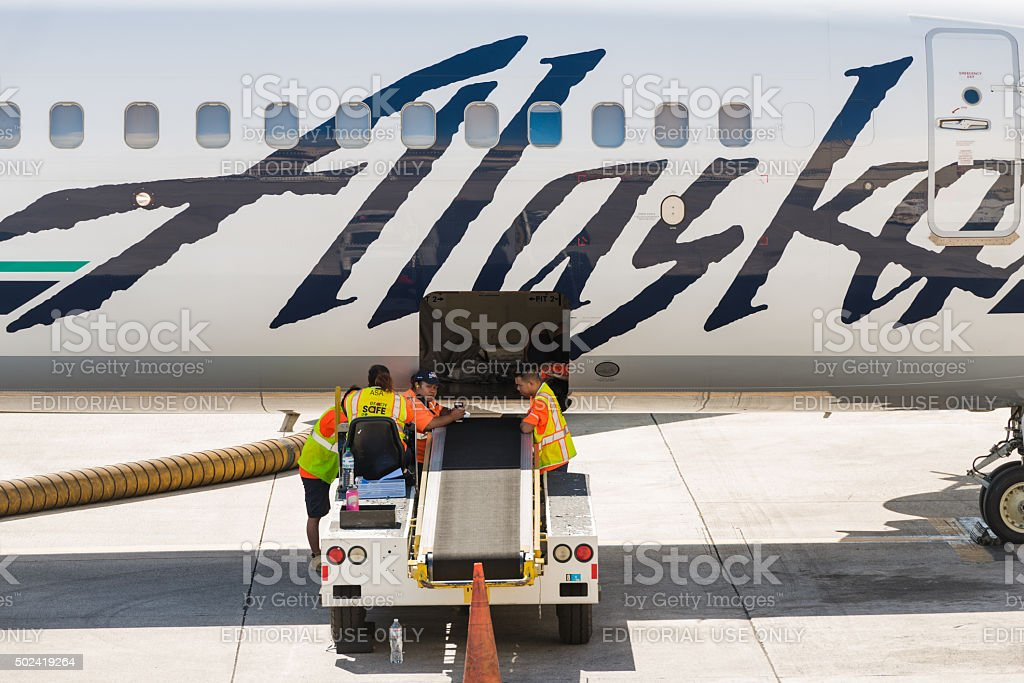 Alaska Airlines stock photo