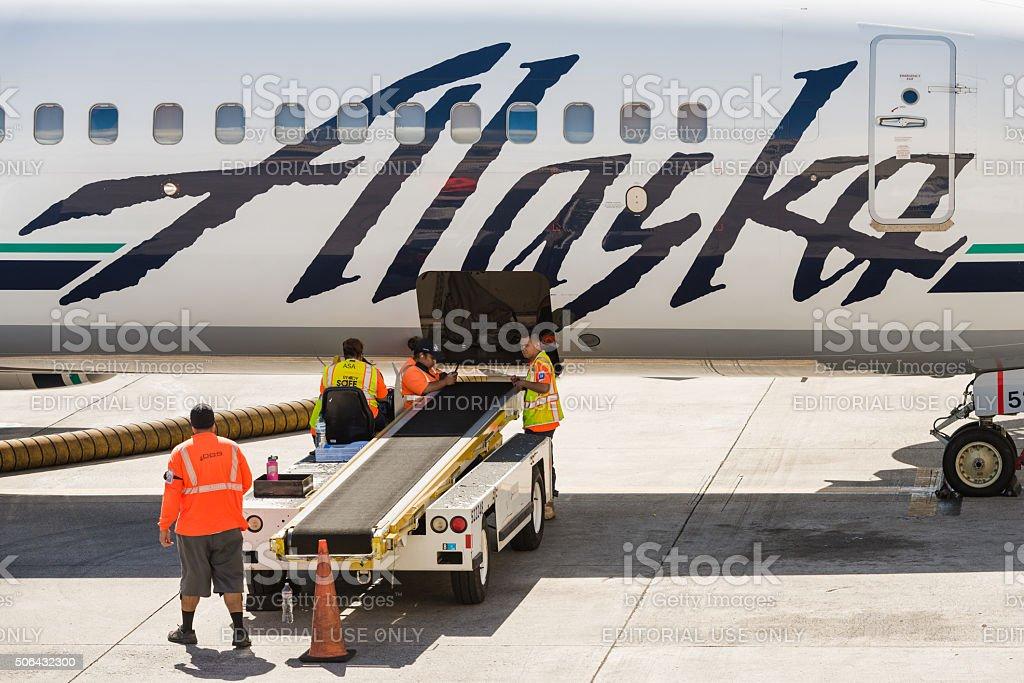 Alaska Airlines stock photo