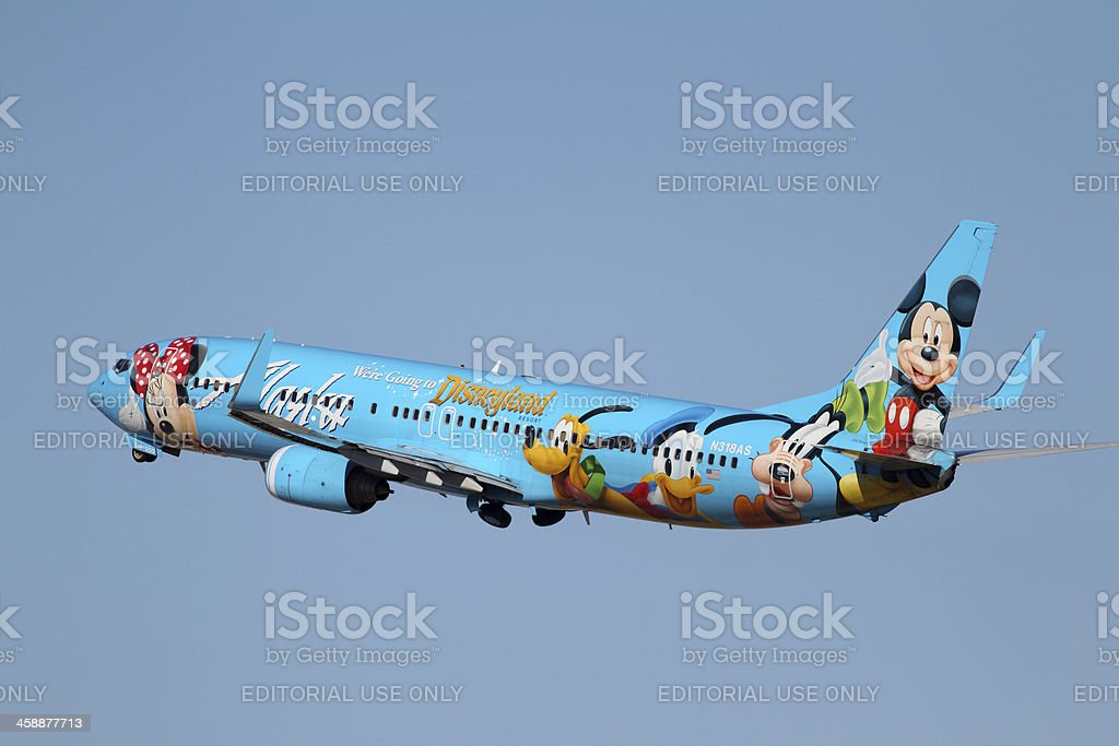 Alaska Airlines Spirit of Disneyland 737 stock photo