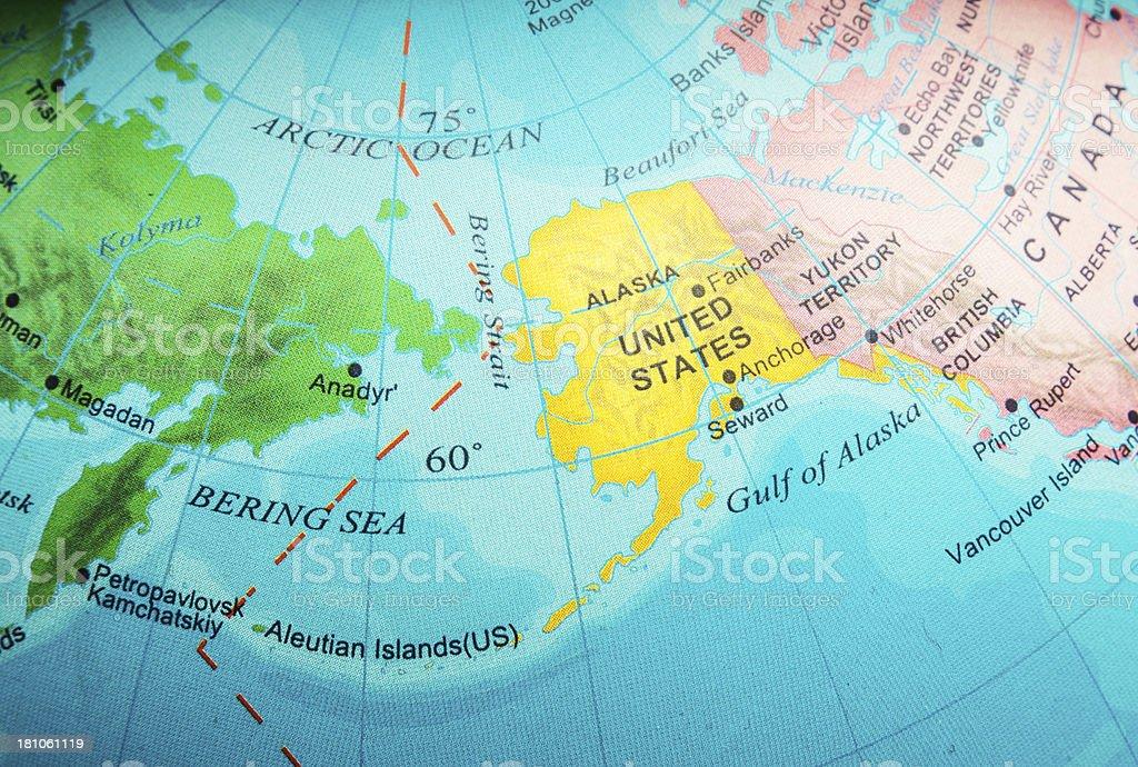 Alaska and Bering Sea stock photo