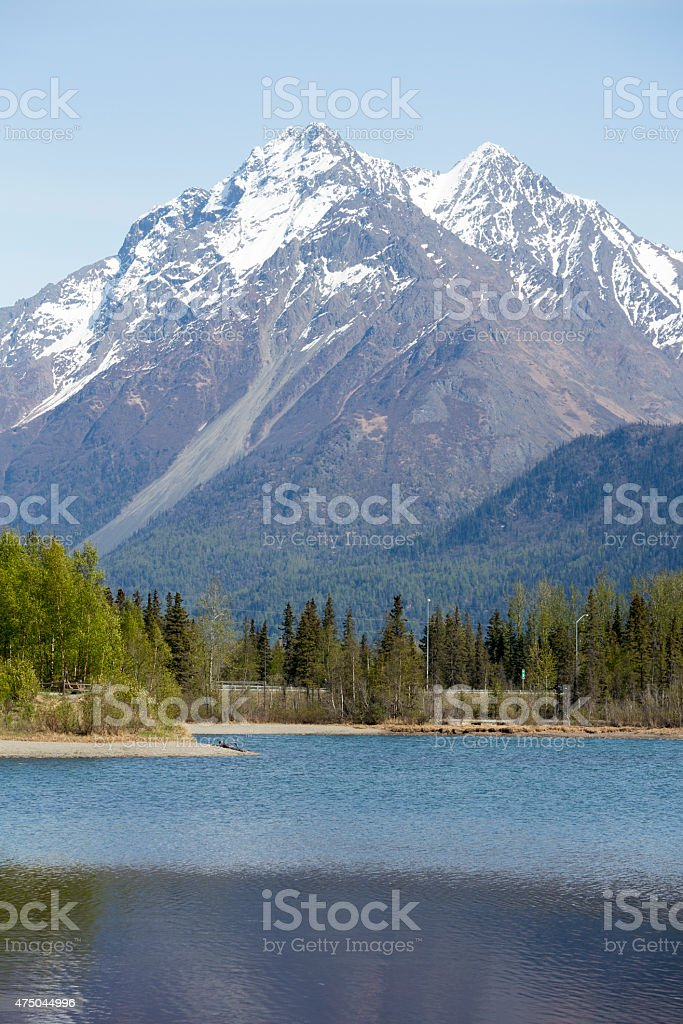 Alaska and Nature, Mountain Ranges with Natural Beauty stock photo