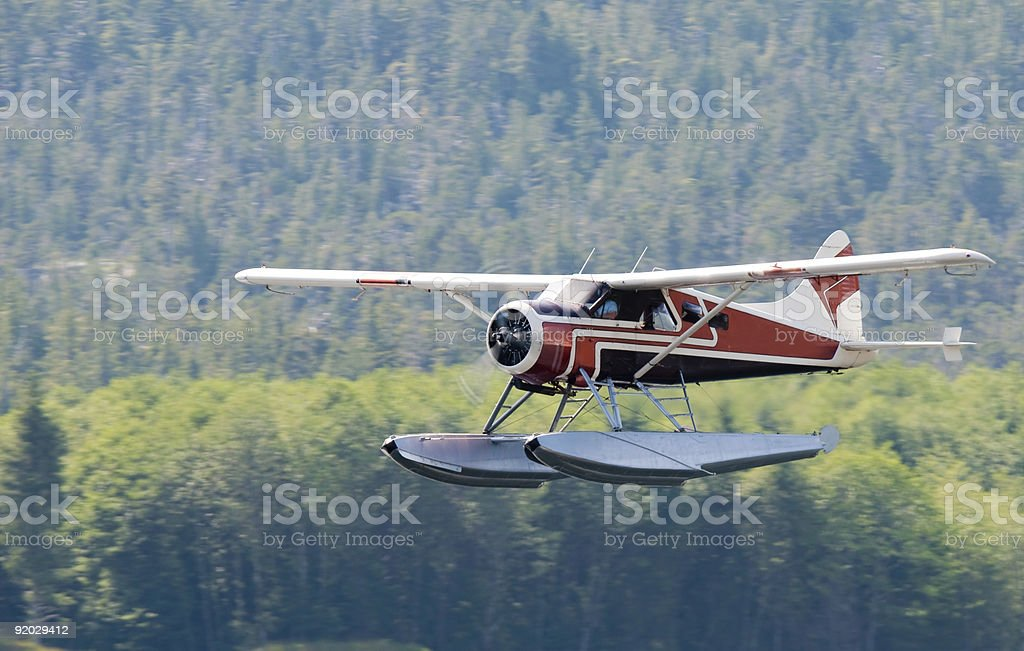 Alaska bushplane stock photo