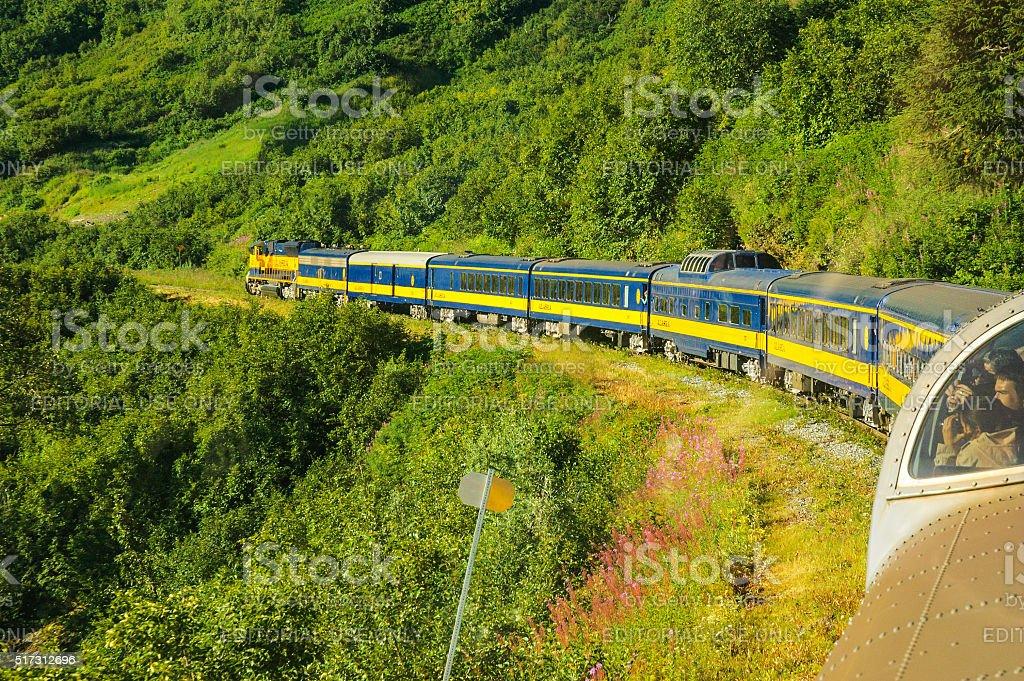 Alaska Coastal Classic Train stock photo