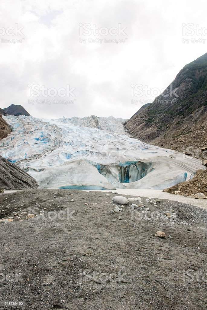 Alaska - Davidson Glacier - The Glacier Point Wilderness Safari stock photo