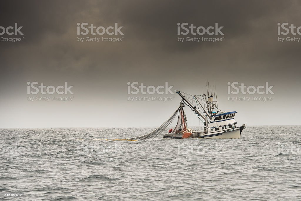 Alaska Fishing Trawler stock photo