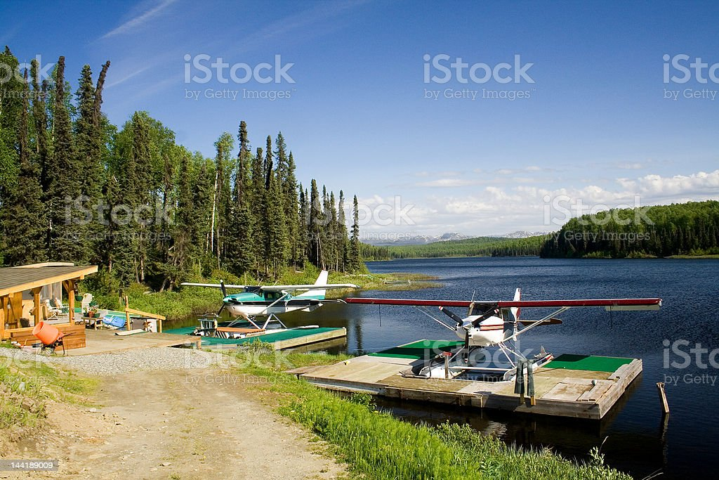 Alaska Float Plane Base stock photo