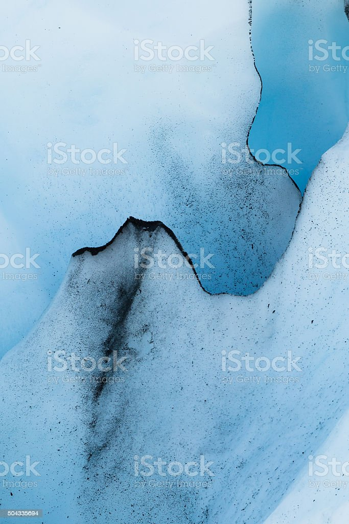 Alaska Glacier Ice Detail 01 stock photo