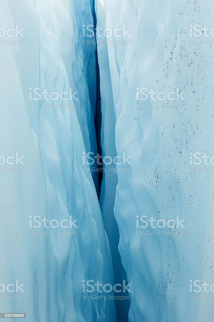 Alaska Glacier Ice Detail 07 - Inside a Crevasse stock photo