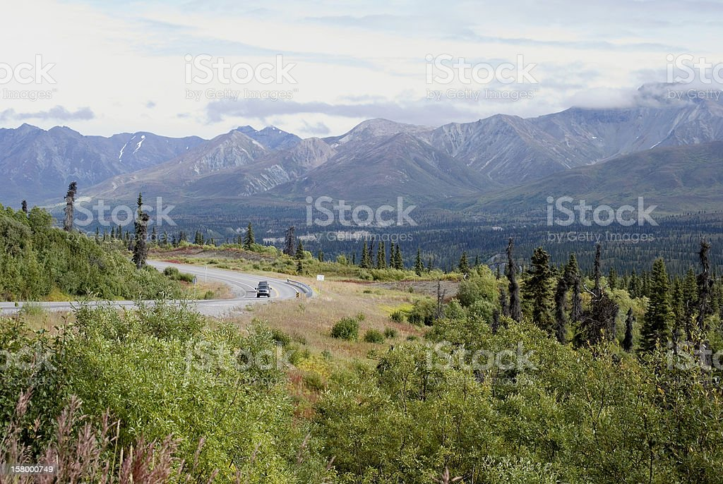 Alaska highway stock photo