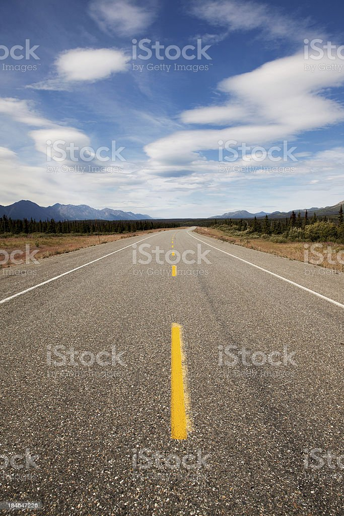 Alaska Highway royalty-free stock photo