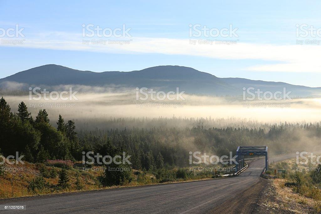 Alaska Highway, Yukon stock photo