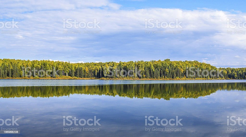 alaska in autumn royalty-free stock photo
