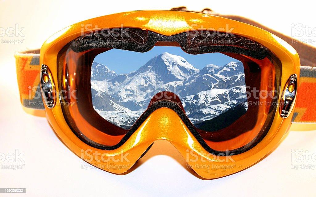 Alaska in my Goggles royalty-free stock photo